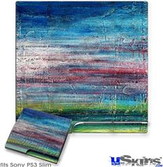Sony PS3 Slim Decal Style Skin - Landscape Abstract RedSky