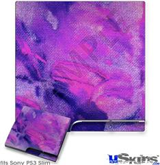 Sony PS3 Slim Decal Style Skin - Painting Purple Splash