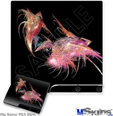 Sony PS3 Slim Skin - Pink Flamingos
