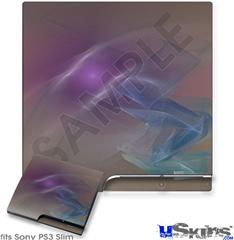 Sony PS3 Slim Skin - Purple Orange