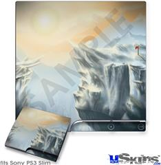 Sony PS3 Slim Decal Style Skin - Ice Land