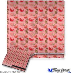 Sony PS3 Slim Decal Style Skin - Crabs and Shells Pink