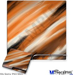 Sony PS3 Slim Decal Style Skin - Paint Blend Orange