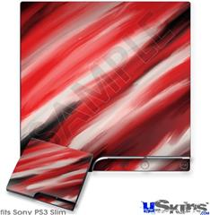 Sony PS3 Slim Decal Style Skin - Paint Blend Red