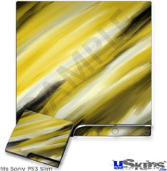 Sony PS3 Slim Decal Style Skin - Paint Blend Yellow