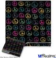 Sony PS3 Slim Skin - Kearas Peace Signs Black