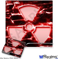 Sony PS3 Slim Skin - Radioactive Red
