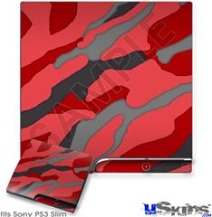 Sony PS3 Slim Skin - Camouflage Red