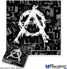 Sony PS3 Slim Skin - Anarchy