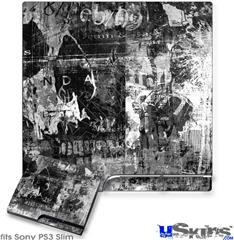 Sony PS3 Slim Skin - Graffiti Grunge Skull