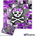 Sony PS3 Slim Skin - Purple Princess Skull
