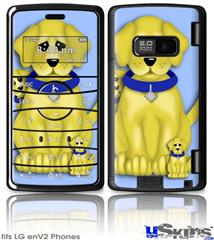 LG enV2 Skin - Puppy Dogs on Blue