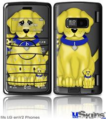 LG enV2 Skin - Puppy Dogs on Black