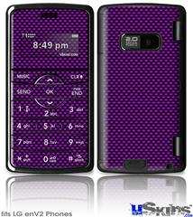LG enV2 Skin - Carbon Fiber Purple