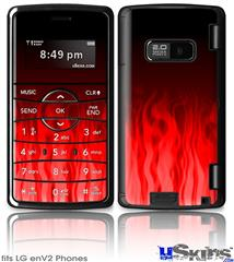 LG enV2 Skin - Fire Flames Red