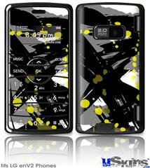 LG enV2 Skin - Abstract 02 Yellow