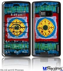 LG enV2 Skin - Tie Dye Circles and Squares 101