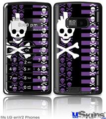 LG enV2 Skin - Skulls and Stripes 6