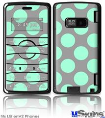 LG enV2 Skin - Kearas Polka Dots Mint And Gray