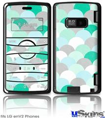 LG enV2 Skin - Brushed Circles Seafoam
