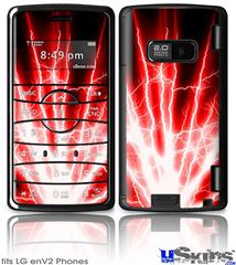 LG enV2 Skin - Lightning Red