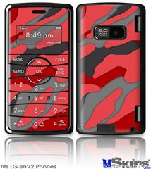 LG enV2 Skin - Camouflage Red