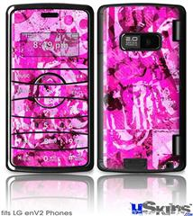 LG enV2 Skin - Pink Plaid Graffiti