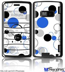 LG enV2 Skin - Lots of Dots Blue on White