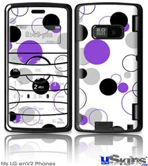 LG enV2 Skin - Lots of Dots Purple on White