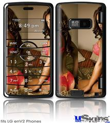 LG enV2 Skin - Whitney Jene Red Lace 8175