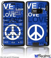 LG enV2 Skin - Love and Peace Blue