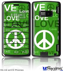 LG enV2 Skin - Love and Peace Green