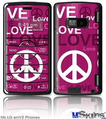 LG enV2 Skin - Love and Peace Hot Pink