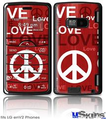 LG enV2 Skin - Love and Peace Red