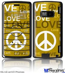 LG enV2 Skin - Love and Peace Yellow