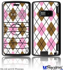 LG enV2 Skin - Argyle Pink and Brown