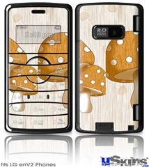 LG enV2 Skin - Mushrooms Orange
