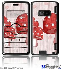 LG enV2 Skin - Mushrooms Red