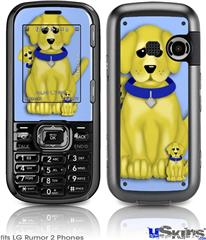 LG Rumor 2 Skin - Puppy Dogs on Blue