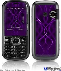 LG Rumor 2 Skin - Abstract 01 Purple