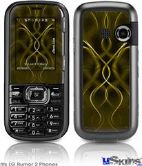 LG Rumor 2 Skin - Abstract 01 Yellow
