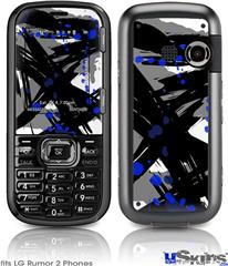 LG Rumor 2 Skin - Abstract 02 Blue