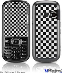 LG Rumor 2 Skin - Checkered Canvas Black and White