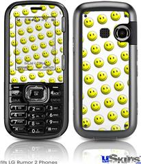 LG Rumor 2 Skin - Smileys on White