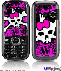 LG Rumor 2 Skin - Punk Skull Princess