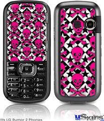 LG Rumor 2 Skin - Pink Skulls and Stars