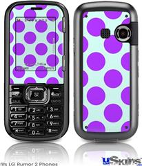 LG Rumor 2 Skin - Kearas Polka Dots Purple And Blue