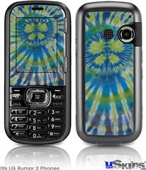 LG Rumor 2 Skin - Tie Dye Peace Sign Swirl