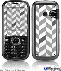 LG Rumor 2 Skin - Chevrons Gray And Charcoal