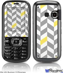 LG Rumor 2 Skin - Chevrons Gray And Yellow
